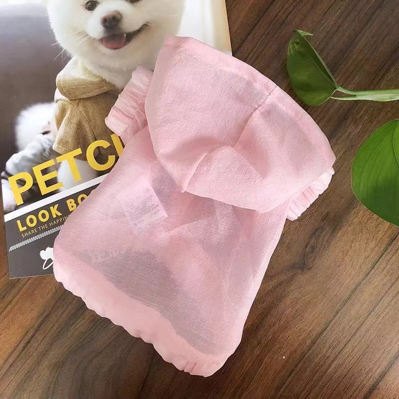 Dog clothes Teddy summer sunscreen shirt light and breathable summer clothes for dogs supplies Outdoor Travel Freestyle AprT4 (7)