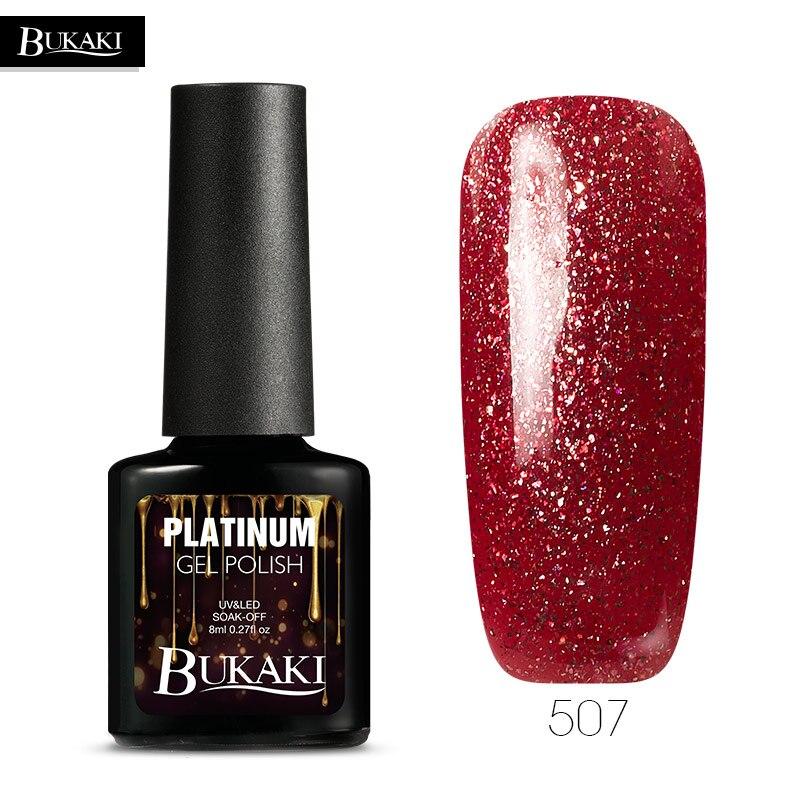 Vampire Platinum: BUKAKI Vampire Color Glitter Platinum Nail Gel Polish Nial