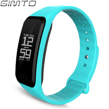 GIMTO Men Women Smart Bracelet Sport Watch Bluetooth Heart Rate Blood Pressure Calories Pedometer LED Smartwatch For Android IOS