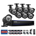 ANNKE 8CH 1080P HD DVR Outdoor IR CCTV Home Surveillance Security Camera Syste