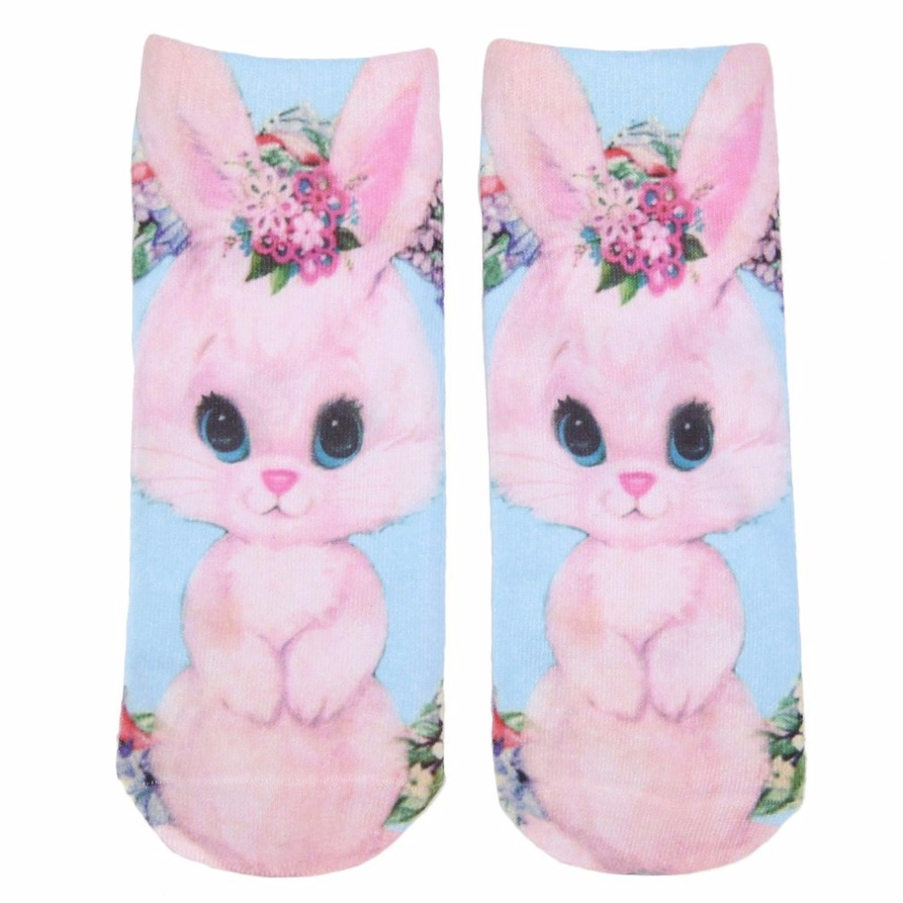 1pair 3D Printed Socks Girl Boys New Unisex Cute Low Cut Ankle Socks Multiple Colors Cotton Sock Casual Charactor Socks