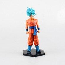 17cm High Quality Dragon Ball Collection DRAGON BALL Z Super Saiyan God Action Figure Resurrection F Blue Hair Son Goku