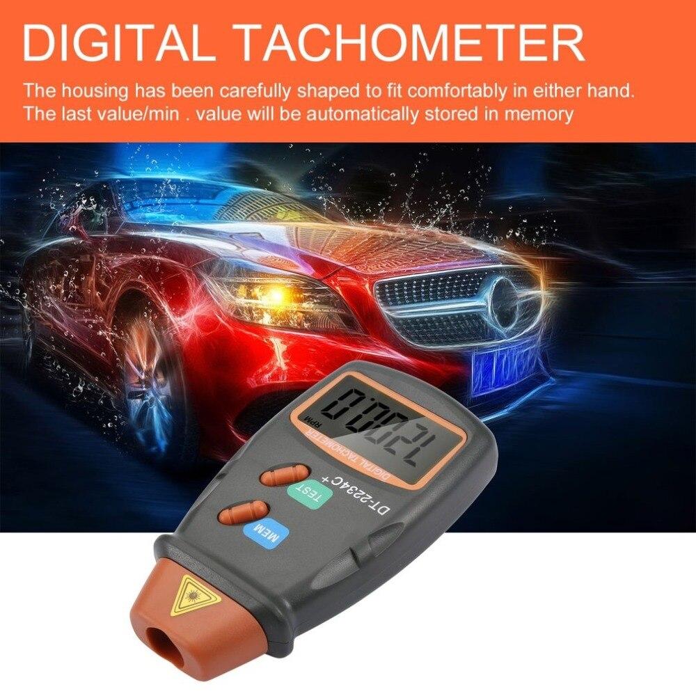 Nuevo tacómetro Digital para fotos con láser, sin contacto, RPM, tacómetro Digital con láser, velocímetro, indicador de velocidad, motor de 2,5 a 99999 RPM