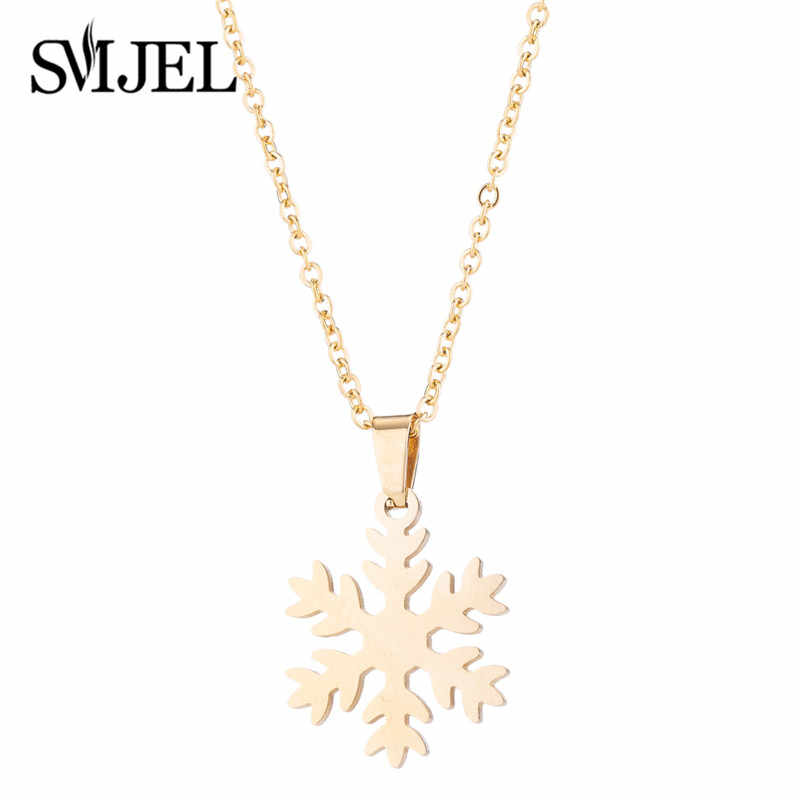 SMJEL 2018 Bijoux Vintage Snowflake Choker Necklaces Women Flower Necklace Earrings Jewelry Set Jewelry Christmas Gifts