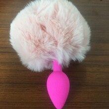 Tabuy Малый силиконовые трусики с анальный плагин хвост Кролик хвост игрушки для анального секса Анальная пробка, Анальный игрушка Fox хвост(China (Mainland))