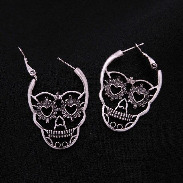 Skeleton Punk Style Earring3