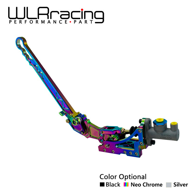 WLR RACING-Universel Jdm Hydraulique Horizontale Rallye Dérive E-levier de frein Frein À Main NEO CHROME NOIR ARGENT WLR3633