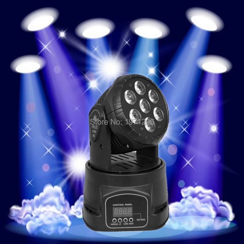 ФОТО 16 pieces/lot LED moving head mini wash 7x12w rgbw quad with advanced 14 channels  DJ Disco Party Stage Effect Lighting