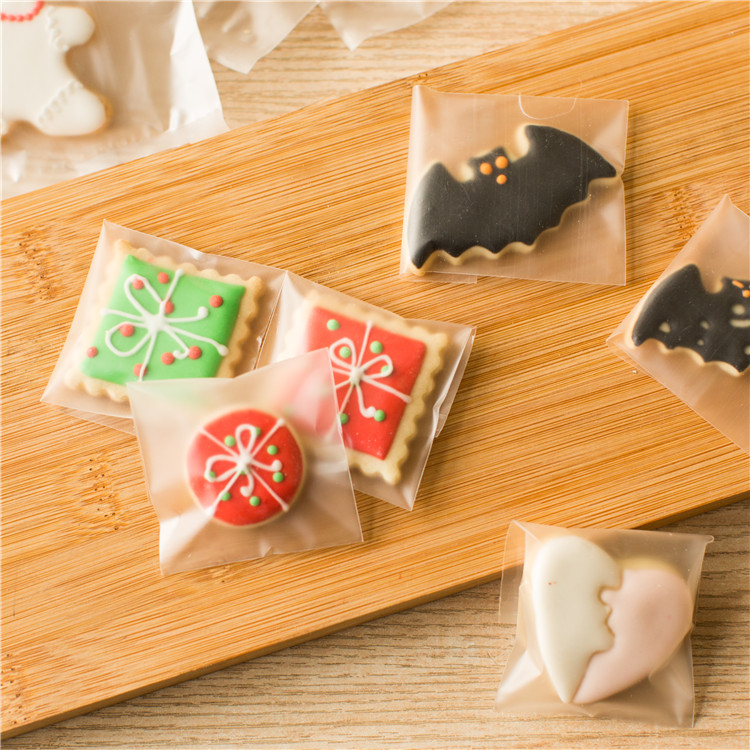 400pcs Single mini Cookie Packing bag Bakery Gift Biscuits Candy Plastic Cello Package Bag