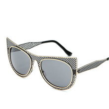 MARC UV400 WOMEN Eyewear designer sunglasses Oculos Gradient Cat eye Blue Red Metal