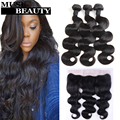 10A Peruvian Body Wave With Closure 13x4 Lace Frontal Closure With Bundles Alipearl Cheap Human Hair With Closure 4 Bundle Deals