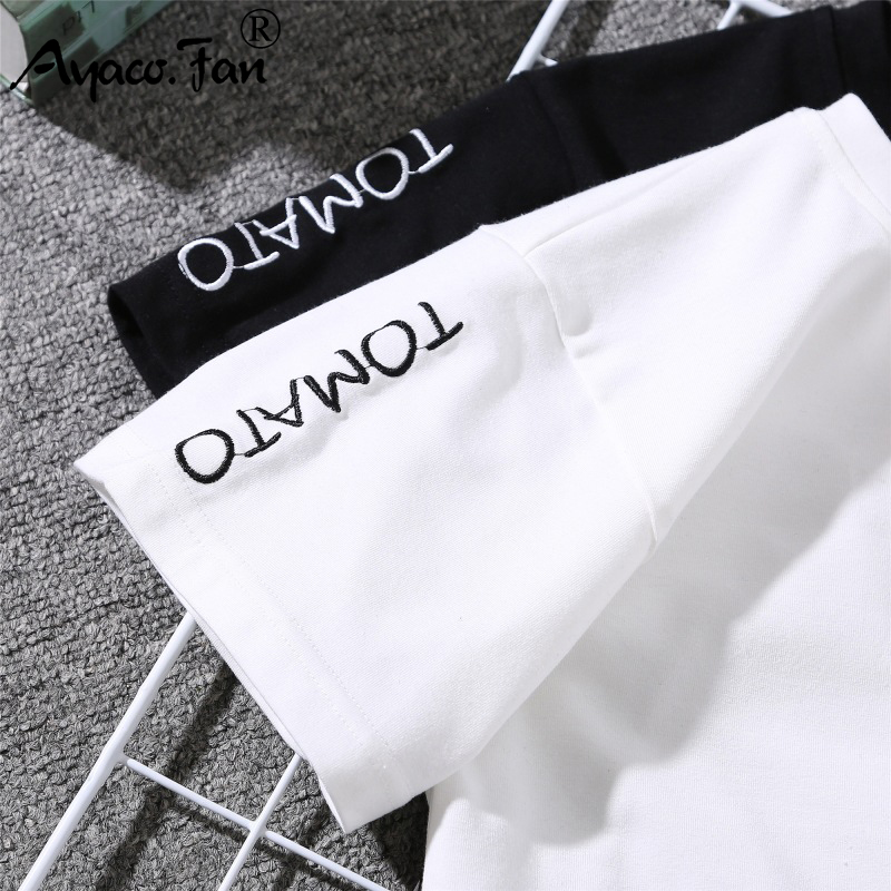 2019 Summer Couples Lovers T-Shirt for Lady Student Casual White Tops Women T Shirt Love Heart Embroidery Print Tshirt Female 5