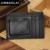 JINBAOLAI 2016 Nueva Moda imán fuerte Clips de Dinero Negro Marrón Cuero genuino 2 doblado Para Unisex Money Clip Con El Crédito tarjeta