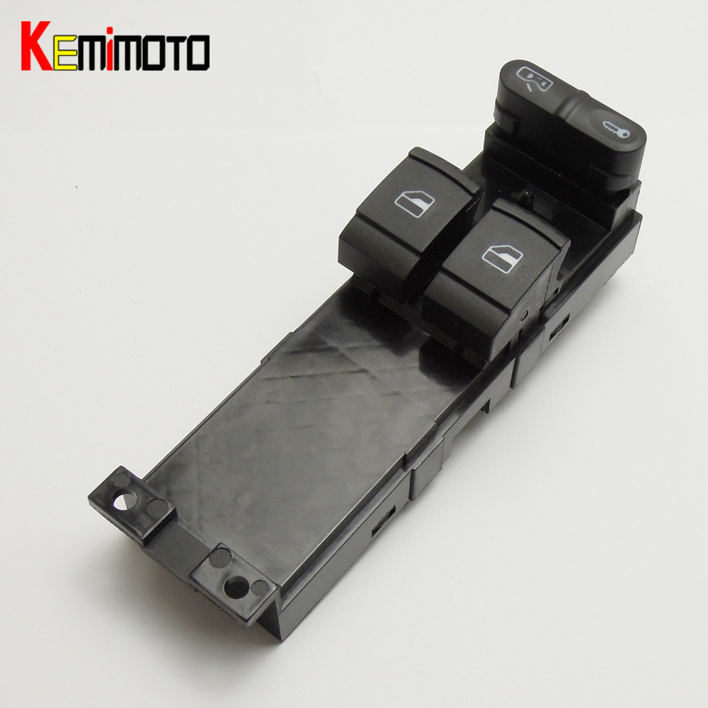 KEMiMOTO 1J3959857A Window Panel Switch for SKODA FABIA 6Y 1999-2009 for SKODA OCTAVIA A4 1U 1999-2009 for VW Golf 1999-2005 speedwow electric master window switch for skoda fabia 6y skoda octavia a4 1u 1999 2009 vw golf 1999 2005 1j3959857a