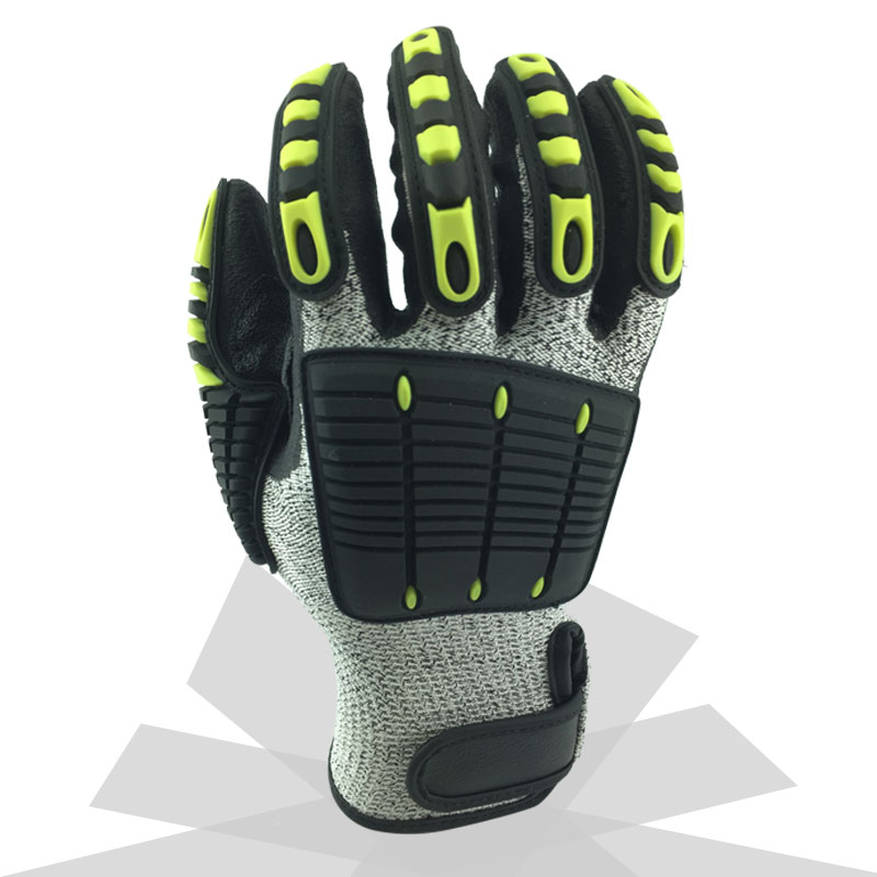 Image 2 - Cut Resistant Anti Vibration Mechanic Safety Protective Work Gloves For Construction Oil Proof Industry-in Safety Gloves from Security & Protection