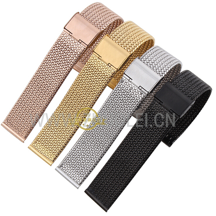 fashion men Watch Strap Milan mesh stainless steel bracelet accessories Multiple colors watchband 16 18 20 22 24mm