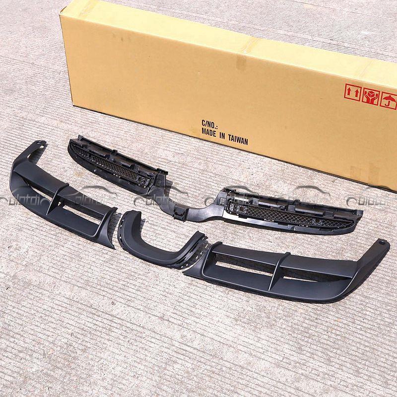 Pour Porsche Boxster 2013-2015 981 moyen sortie voiture style GT4 PP lèvre arrière corps kits garniture de pare-chocs