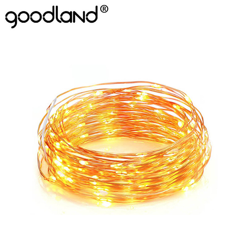 led string fairy light 1 10m garland cr2032 aa battery powered copper wire waterproof gerlyanda for outdoor christmas decoration - Outdoor Christmas Decorations Wire