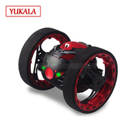 Remote Control 2 4GHz RC Bounce Car With Jumping LED Light Music Automatic Balancing Walking Robot