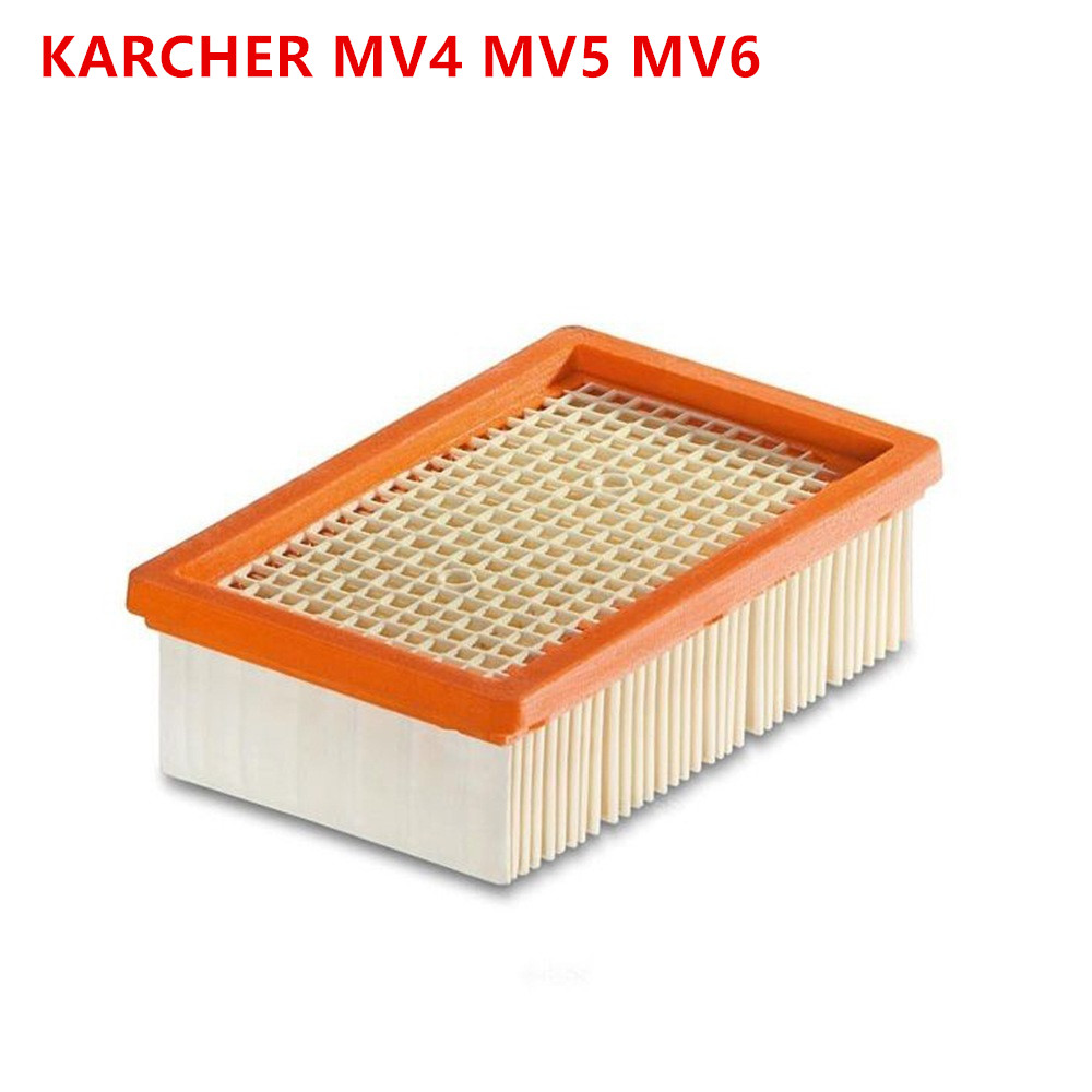Free Shipping Replacement KARCHER Flat-Pleated Filter For KARCHER MV4 MV5 MV6 Wet And Dry Vacuum Cleaner OEM#2.863-005.0