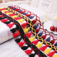 1yards/lot Tassel Fringe trim fabric tassels Fringe lace trimmings with tassels for curtains decoration DIY Sewing Accessories fringe decoration lace contrast chiffon top