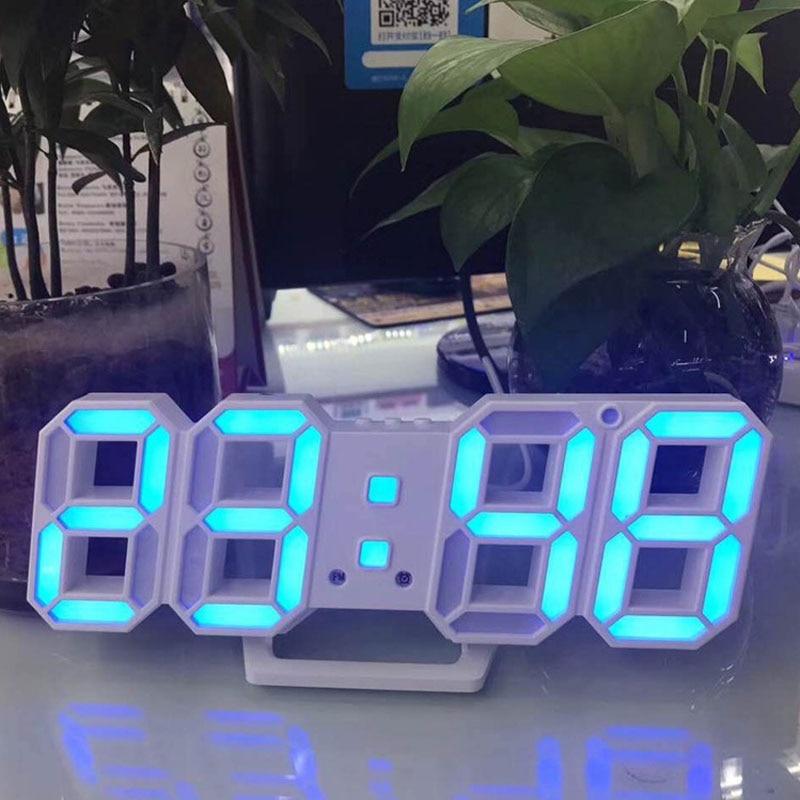 3D Digital Alarm Clock LED Decorative Bedroom