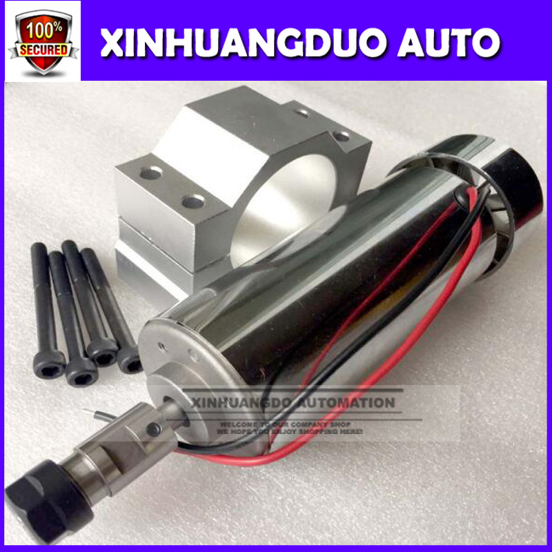 500W air cooled milling Motor high speed spindle power converter 52mm clamp 5pcs er11 collet for