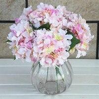 10 ШТ./моделирование одноместный Гортензия Гортензия моделирования Цветок шелковый путь свадебные арки привел цветы искусственные цветы