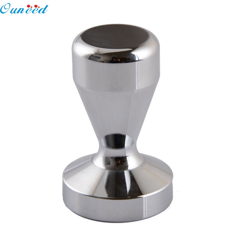 Ouneed Happy Home 1 Piece 51MM Steel Coffee Tamper Barista Base Coffee Bean Press ouneed happy home 2 holes mixed owl wooden buttons sewing scrapbooking diy 1 piece