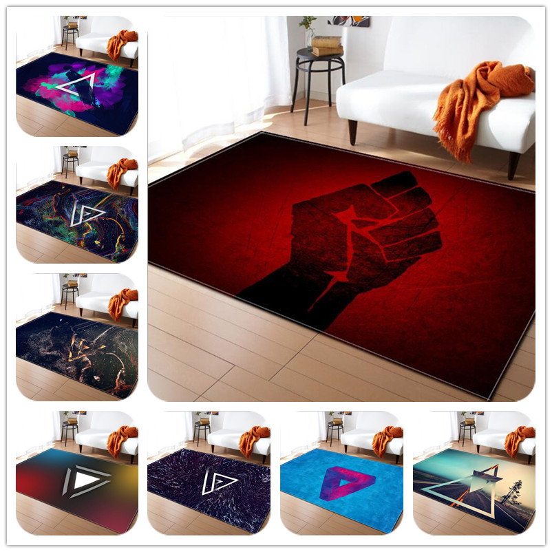 Trend personality Print Soft Carpets for living room decor Rug Bath kitchen Toilet Anti-slip Mat Carpet Kids Room Game Crawl Rug