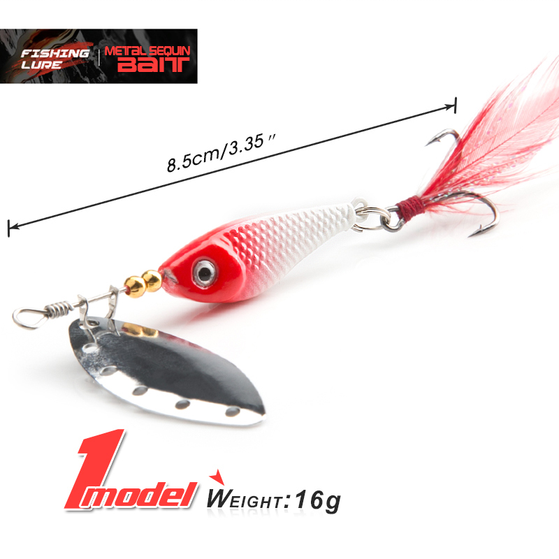 spinner Spoon Metal Bait Fishin Lure Sequins Crankbait Spoon baits for Bass Trout Perch pike rotating Fishing (10)