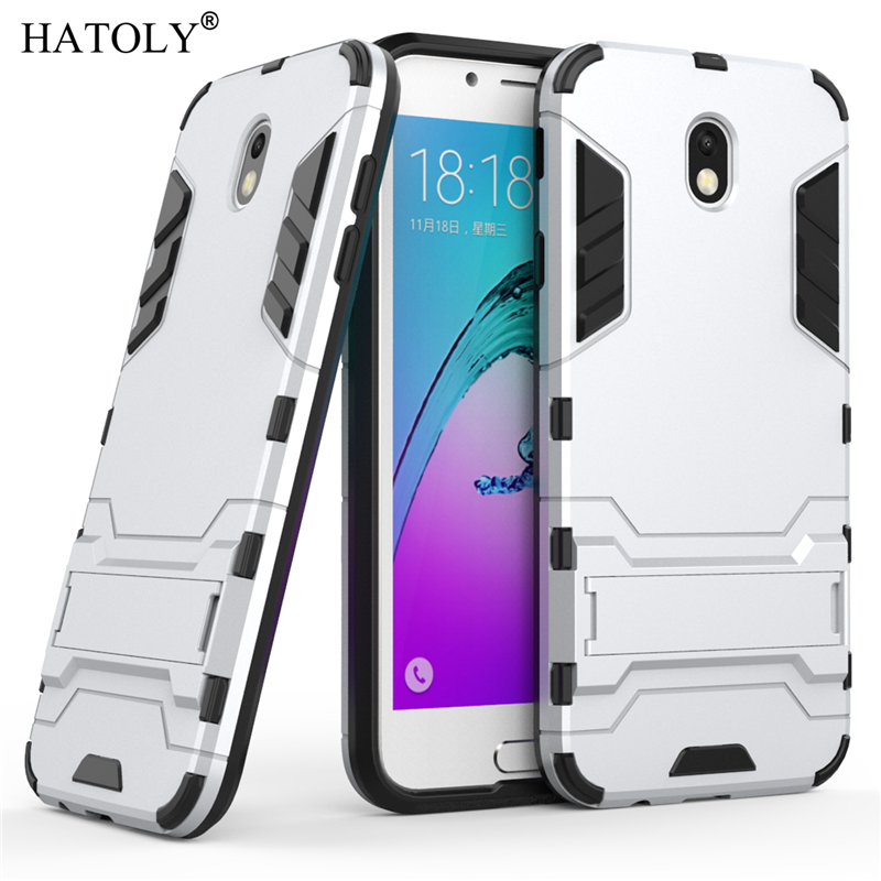 For Samsung Galaxy J7 2017 Case J730FM Robot Armor Case Silicon Rubber Hard