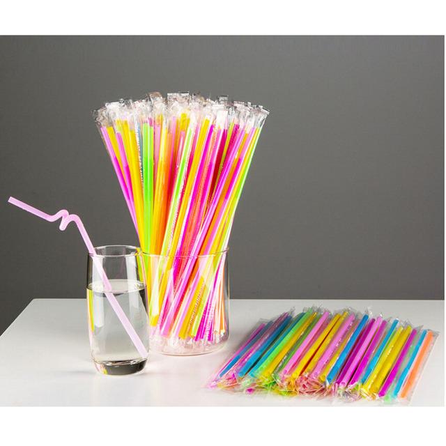 Multicolor Straws 50 pcs/lot