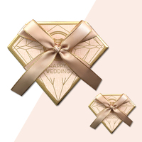 Wedding Golden Candy Box Diamond Candy Box Wedding Pink Gifts Gifts Beautiful European Gifts Gift Box 10 Pack