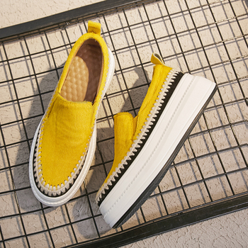 XIUNINGYAN Women Flat Platform Loafers Genuine Leather Women Casual Shoes Comfortable Shoes Ladies Sneakers Fashion Shoes Woman