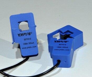 Бесплатная доставка SCT013 100A/50mA сплит-сердечник Датчик тока зажим переменного тока