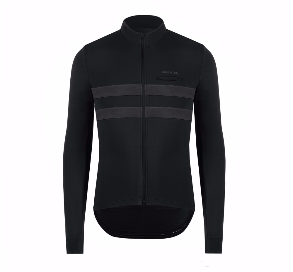 2018 New SPEXCEL quality Winter Spring Thermal fleece Reflective Cycling Jersey long sleeve Cycling clothing Classic cool design black thermal fleece cycling clothing winter fleece long adequate quality cycling jersey bicycle clothing cc5081