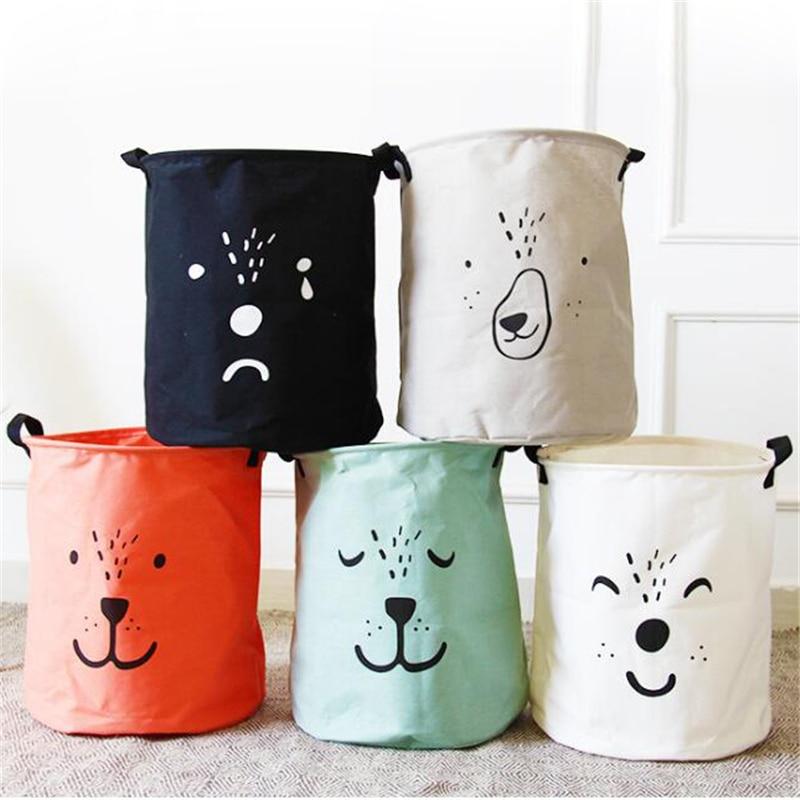 2017 cute kids toys bag bins organizer large cloth laundry. Black Bedroom Furniture Sets. Home Design Ideas