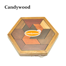 Kids Puzzles Wooden Tangram/Jigsaw Board