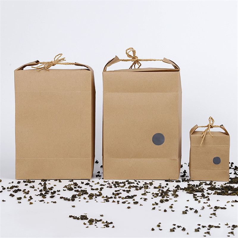 100pcs rice paper packaging/Tea packaging cardboard paper bag/weddings kraft paper bag Food Storage Standing Paper Packing Bag-in Gift Bags & Wrapping Supplies from Home & Garden    1