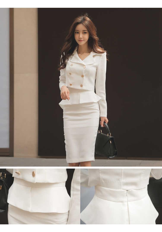5b7089be8e39 ... ZAWFL 2 Piece set Women Skirt Suits Women Business Suits Office Uniform  Designs Women Elegant Work