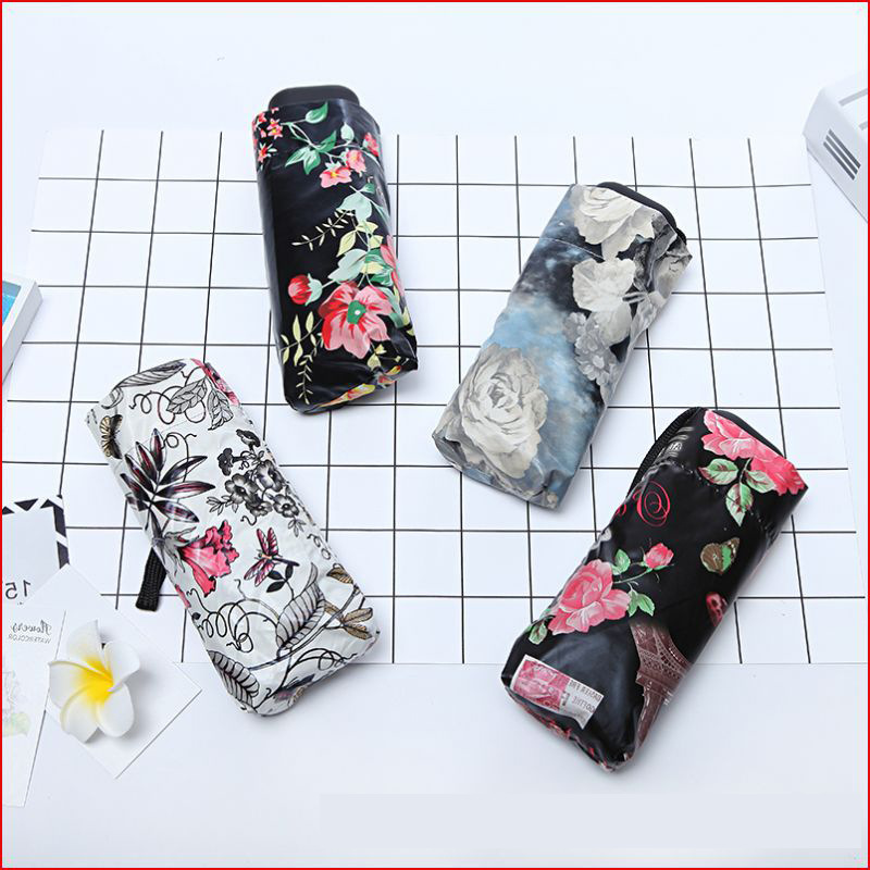 Mini light 5 folding women's umbrellas prevent sun parasol pocket umbrella for female outdoor tools small umbrella