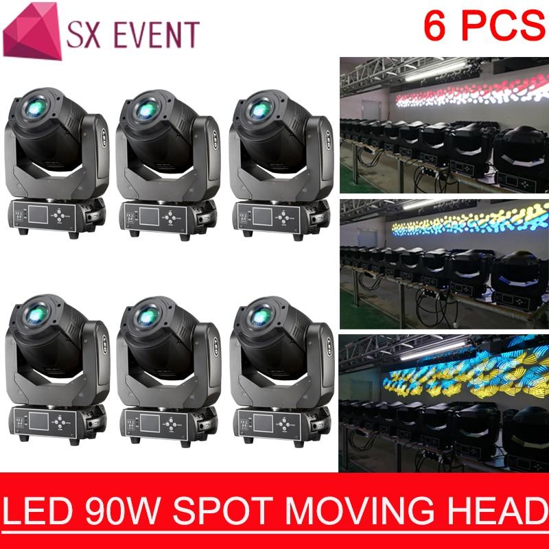 LED 90W moving head 90W Gobo LED Lyre Moving Head Light DJ Spot Moving Head Light for Disco Nightclub Party 6pcs/lot