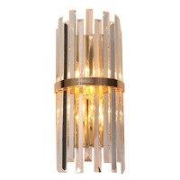 Luxury foyer living American wall light luminaire bracket lamp nordic modern glass crystal modern gold wall light lamp sconce