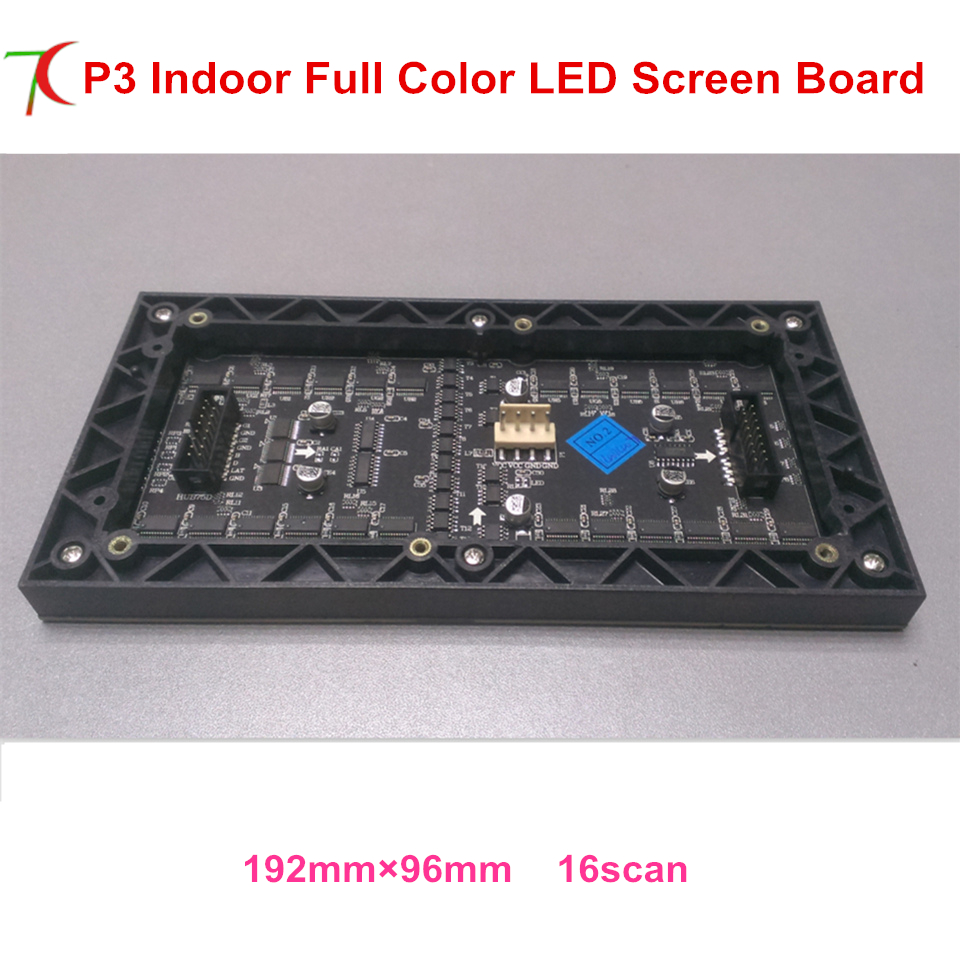 192*96mm RGB Full Color Programmable LED Scrolling Sign Message Board Display Module 32*16 Pixels P3 SMD LED Module
