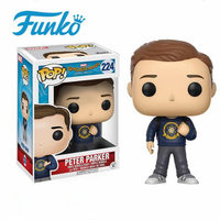 Authorized First Edition Official Marvel Theme FUNKO POP! Spider Man Peter Parker Vinyl Doll Collection Model Toy Original Box