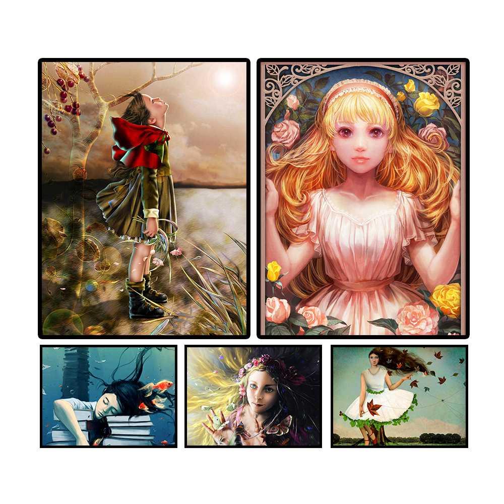 Для девочек с героями мультфильмов, принцесса, 5d, diy, полный квадрат, алмаз живопись, алмаз вышивка, вышивка крестом, домашний декор, подарки