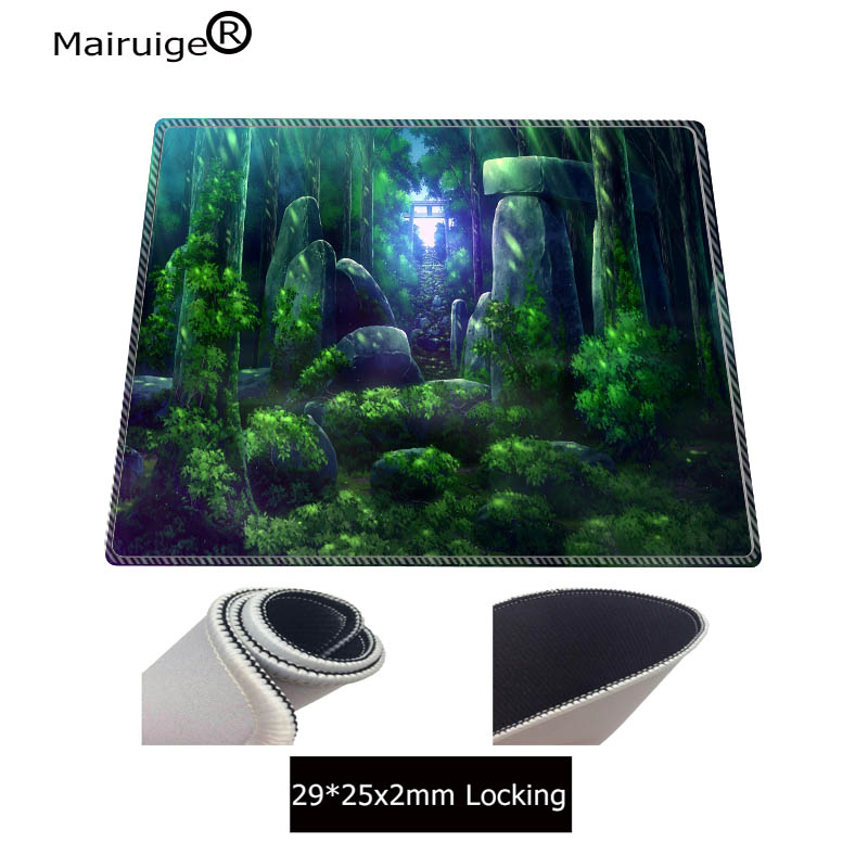 Mairuige Forest Tree Stone Large Gaming Mouse Pad Lockedge Mouse Mat Keyboard Pad Mousepad For Laptop Computer Notebook Desk Mat in Mouse Pads from Computer Office