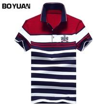 BOYUAN Men Polo Shirt Short Sleeve Polo Homme Marque Polo Hommes Brand-clothing Polo Shirt Men 2017 Summer Striped Casual 1734