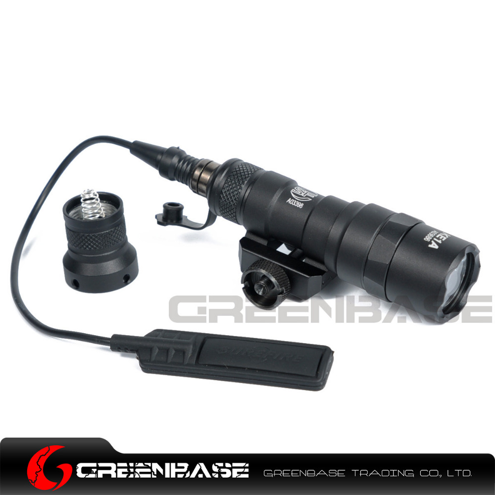 Greenbase Tactical M300 M300B MINI Scout Light Outdoor Rifle Hunting Flashlight 400 lumen Weapon Light LED Lanterna aimtis m300b mini scout light tactical rail light rifle hunting flashlight constant momentary output for 20mm picatinny rail